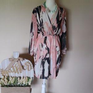 Bar III blush dress size xl